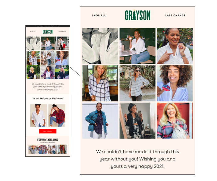 press email feature in Grayson january 2021